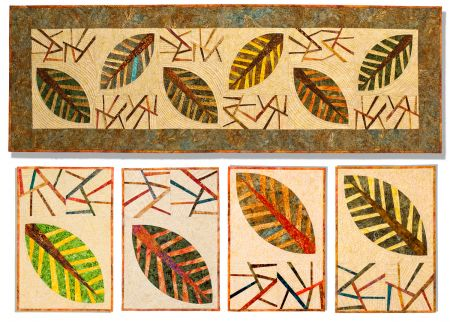Placemats Deb  & ~ by table Karasik Falling  Leaves runner Table  Artist Fiber Runner placemats and